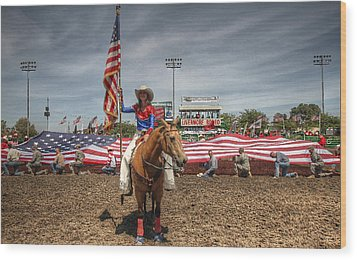 Fastest Rodeo On Earth Wood Print