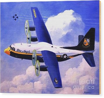 Wood Print featuring the painting Fat Albert by Stephen Roberson