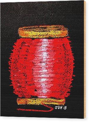 Fat Red  Wood Print by Joseph Hawkins