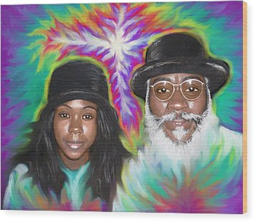 Father And Daughter Spirit Ministry  Wood Print