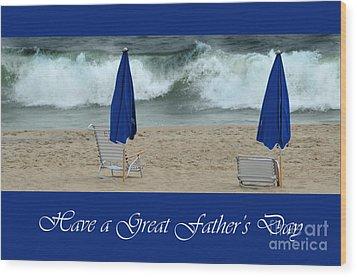 Father's Day Card Wood Print by Randi Grace Nilsberg