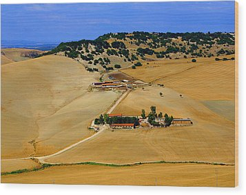 Farm In Rural Tarquinian Wood Print