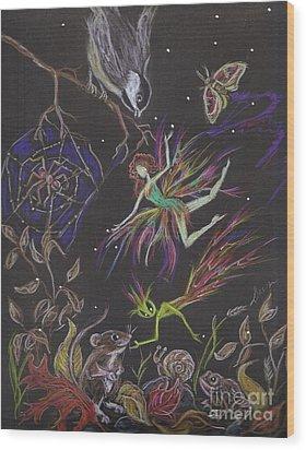 Fauna Wood Print by Dawn Fairies