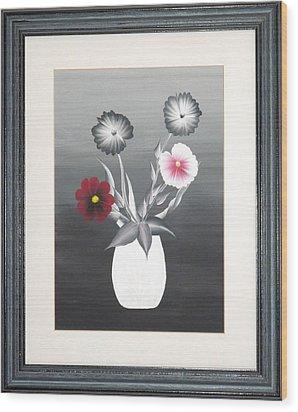 Faux Flowers II Wood Print by Ron Davidson