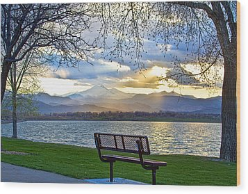 Favorite Bench And Lake View Wood Print by James BO  Insogna