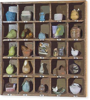 Favorite Things 2 Wood Print by Patrick M Lynch