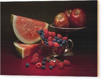 Feast Of Red Still Life Wood Print by Tom Mc Nemar
