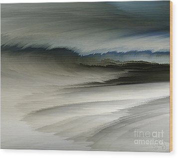 Feathered Seascape Wood Print by Patricia Kay