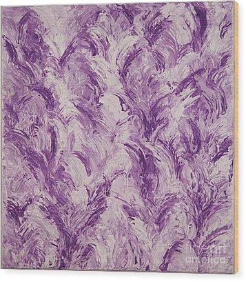 Feathers Wood Print by Barbara Carretta