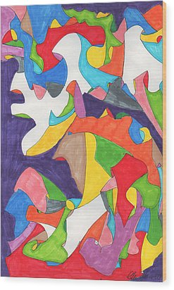 February Eleventh Wood Print by Ellen Howell