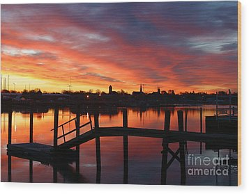 February Sunrise Wood Print by Butch Lombardi