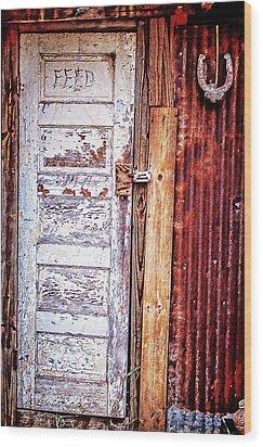 Feed Room Door Wood Print by Kelly Kitchens