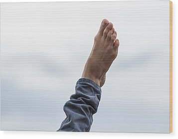 Feel  The Skies Under Your Foot - Featured 2 Wood Print by Alexander Senin