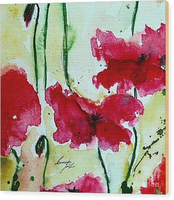 Feel The Summer 2 - Poppies Wood Print