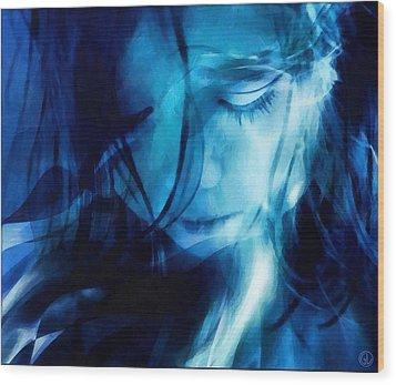 Feeling A Little Blue Wood Print by Gun Legler