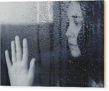 Feeling Blue Wood Print by Lisa Knechtel