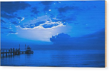 Wood Print featuring the photograph Feeling Blue by Phil Abrams