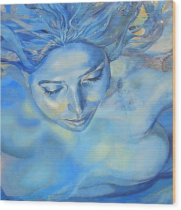 Wood Print featuring the photograph Feeling Blue by Ramona Johnston