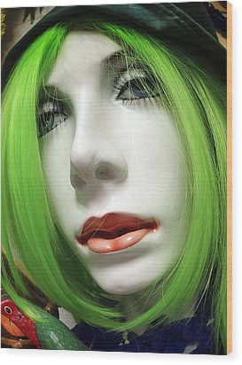Feeling Green Wood Print