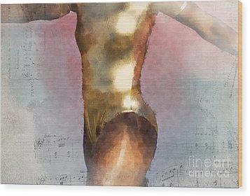 Feeling The Beat Wood Print by Betty LaRue
