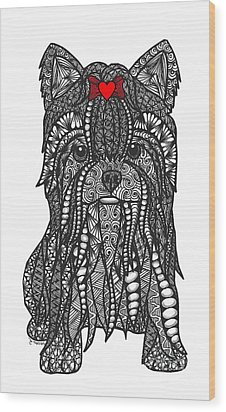 Feisty - Yorkshire Terrier Wood Print