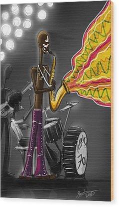 Fela Afrobeat Kuti Wood Print by Sasank Gopinathan