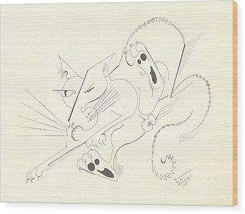 Felis Notsodomesticus Wood Print by Melinda Dare Benfield