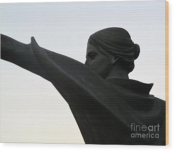 Female Educator Reaching Out Two Wood Print by Tina M Wenger