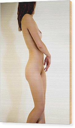 Female Nude Study Wood Print by Julia Hiebaum