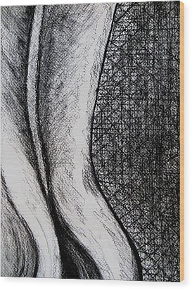Female Nude The Backside Wood Print