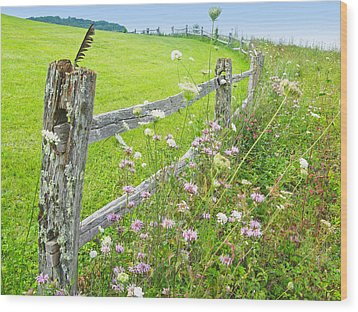 Fence Post Wood Print by Melinda Fawver