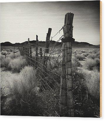 Fenceline Wood Print