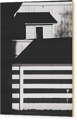Fences Wood Print