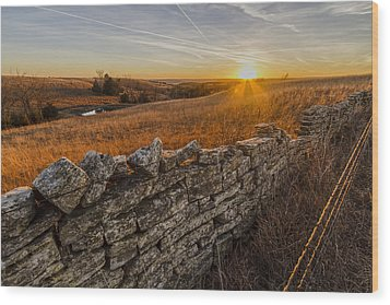 Fences Wood Print