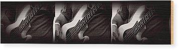 Fender Bass Wood Print by Bob Orsillo