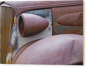 Wood Print featuring the photograph Fender Bender by Jim Snyder