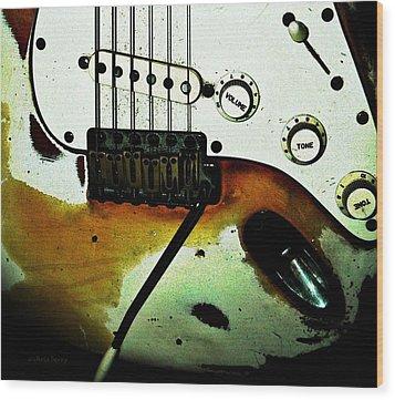 Fender Detail  Wood Print by Chris Berry