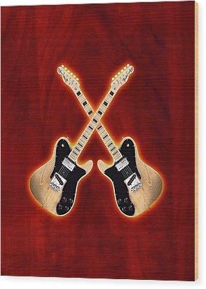 Fender Telecaster Custom Wood Print by Doron Mafdoos