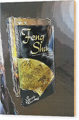 Wood Print featuring the painting Feng Shui Abstract - Small by Nik Helbig