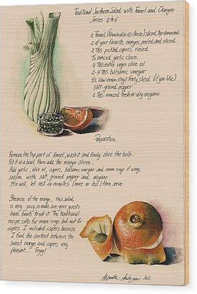 Fennel Salad Wood Print by Alessandra Andrisani