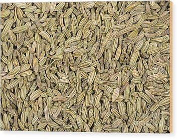 Fennel Seeds Wood Print by Jane Rix