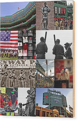 Fenway Memories Wood Print by Joann Vitali