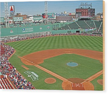 Fenway One Hundred Years Wood Print by Barbara McDevitt