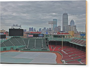 Fenway Park Boston Wood Print by Amazing Jules