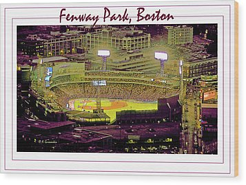 Fenway Park Boston Massachusetts Digital Art Wood Print by A Gurmankin
