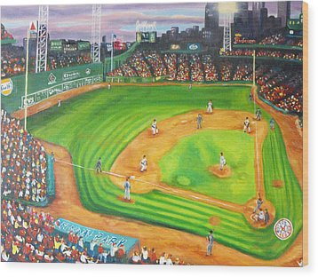 Fenway Park Fantasy Wood Print by Michell Givens