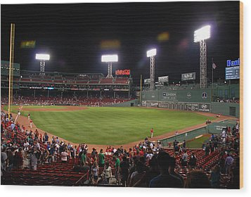Fenway Park Wood Print by Mark Wiley