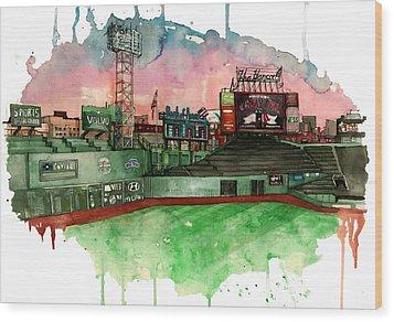 Fenway Park Wood Print by Michael  Pattison