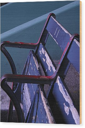 Fenway Park Third Base Seat Wood Print