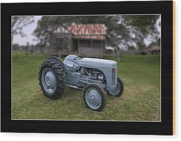Wood Print featuring the photograph Fergie Tractor by Keith Hawley